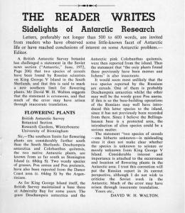 Antarctic, A News Bulletin, New Zealand Antarctic Society, letter from D.W.H. Walton, Winterbourne Research Gardens, Winterbourne House and Garden, Digging for Dirt