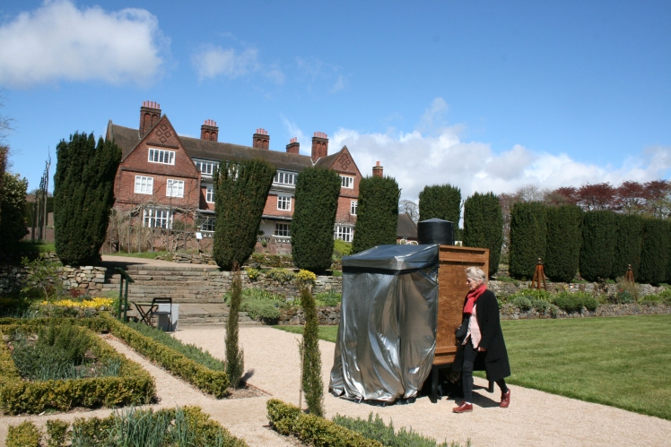 Gen Doy and camera obscura, Winterbourne, photograph by Pete Ashton, Winterbourne House and Garden, Digging for Dirt