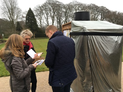 Gen Doy with visitors at Winterbourne, photograph by Pete Ashton, Winterbourne House and Garden, Digging for Dirt
