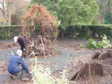 Restoration of the Sunken Garden, 2004, Winterbourne House and Garden, Digging for Dirt