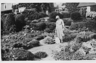 The Nicolsons' grand-daughter Jenifer, with her nanny, in the Sunken Garden, Winterbourne House and Garden, Digging for Dirt
