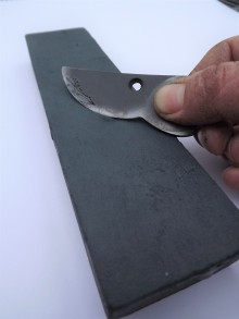Sharpening stone and blade, Winterbourne House and Garden, Digging for Dirt